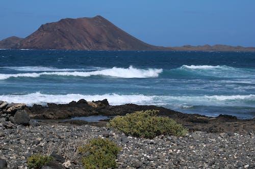 Free stock photo of mountain, ocean, waves