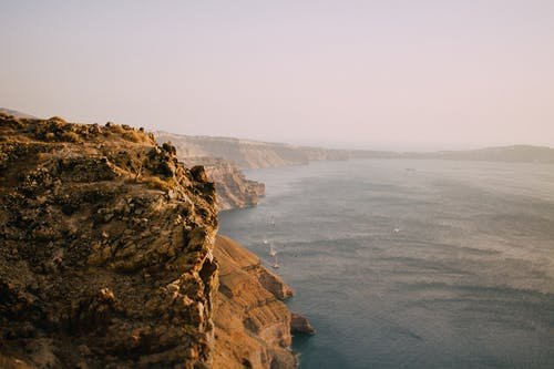 Scenic View of the Ocean Near Cliffs