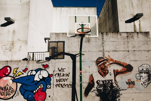 Fotobanka sbezplatnými fotkami na tému basketbalové ihrisko, basketbalový Kôš, budova, chodník