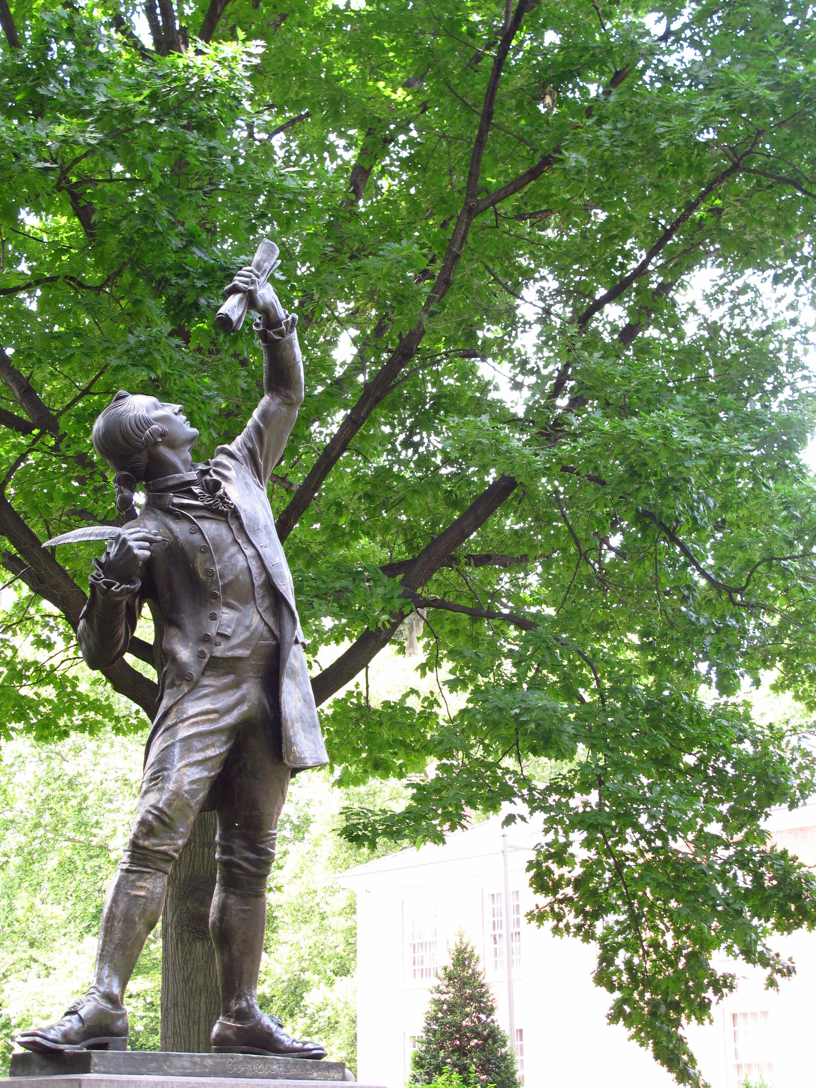 Free stock photo of statue, writer