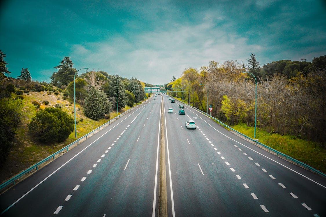 άσφαλτος, αυτοκίνητα, αυτοκινητόδρομος