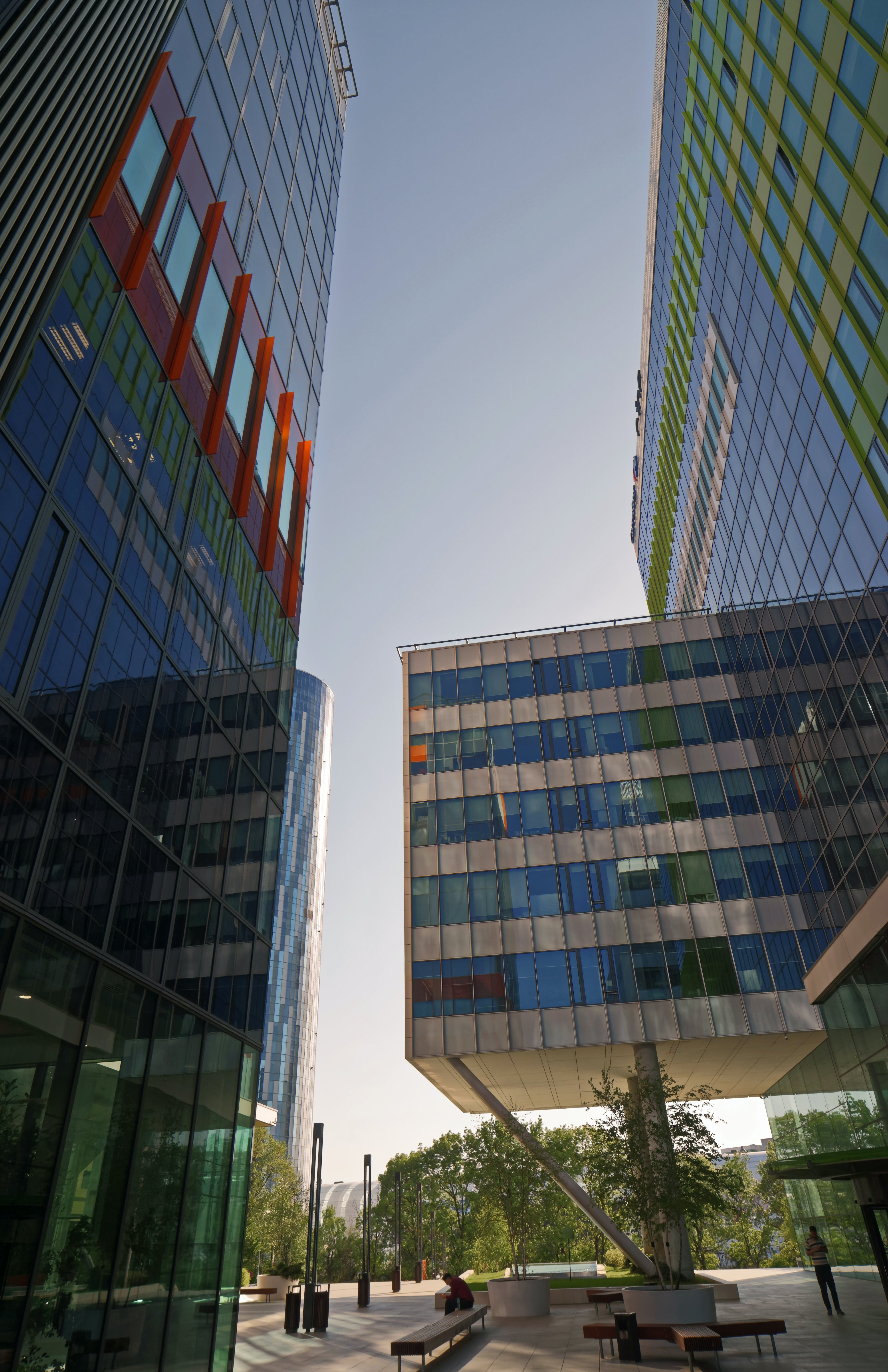 Multicolored Glass Buildings