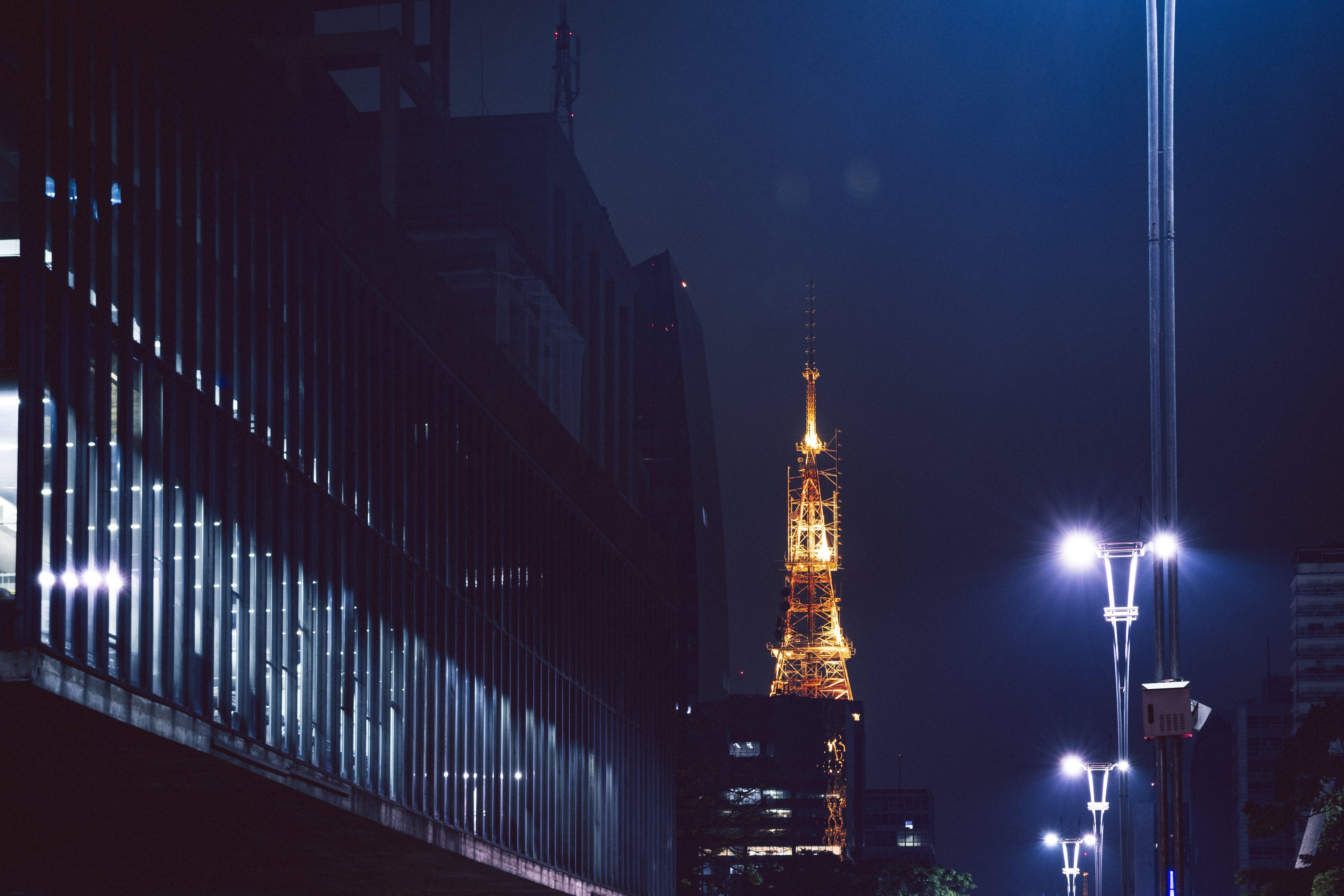 Eiffel Tower, Paris during Night Time