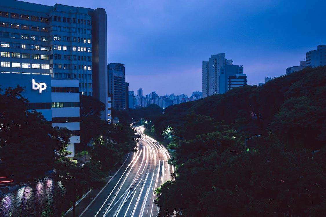 architektúra, autá, budovy