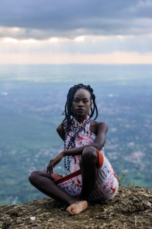 Ingyenes stockfotó afro-amerikai nő, divat, divatmodell, ég témában