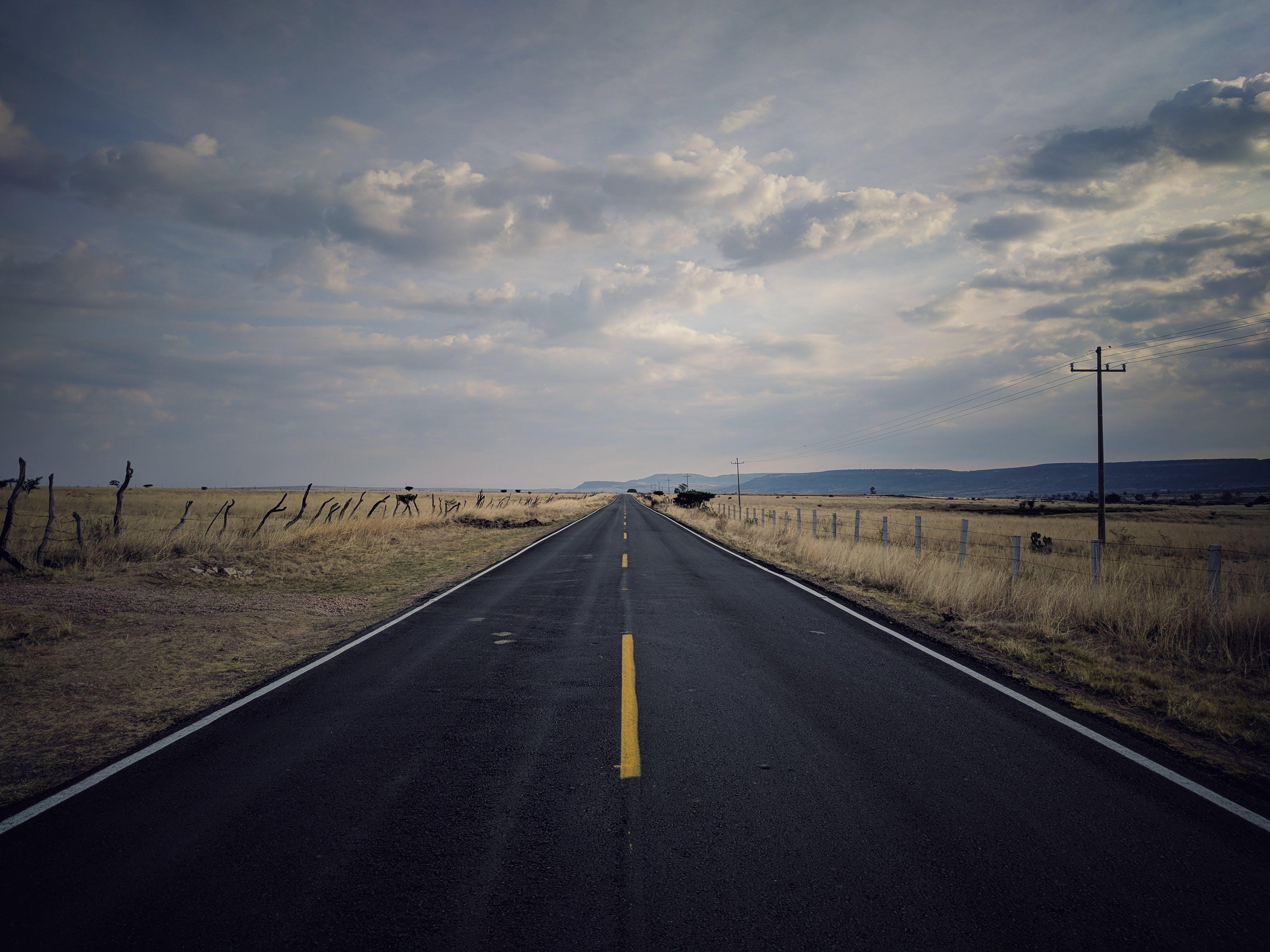 Landscape Photography of Pavement Road