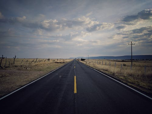 Landscape Photography of Pavement Road