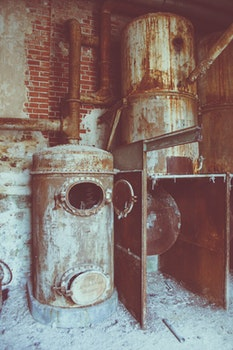 Free stock photo of rust, factory, fabric, ruins