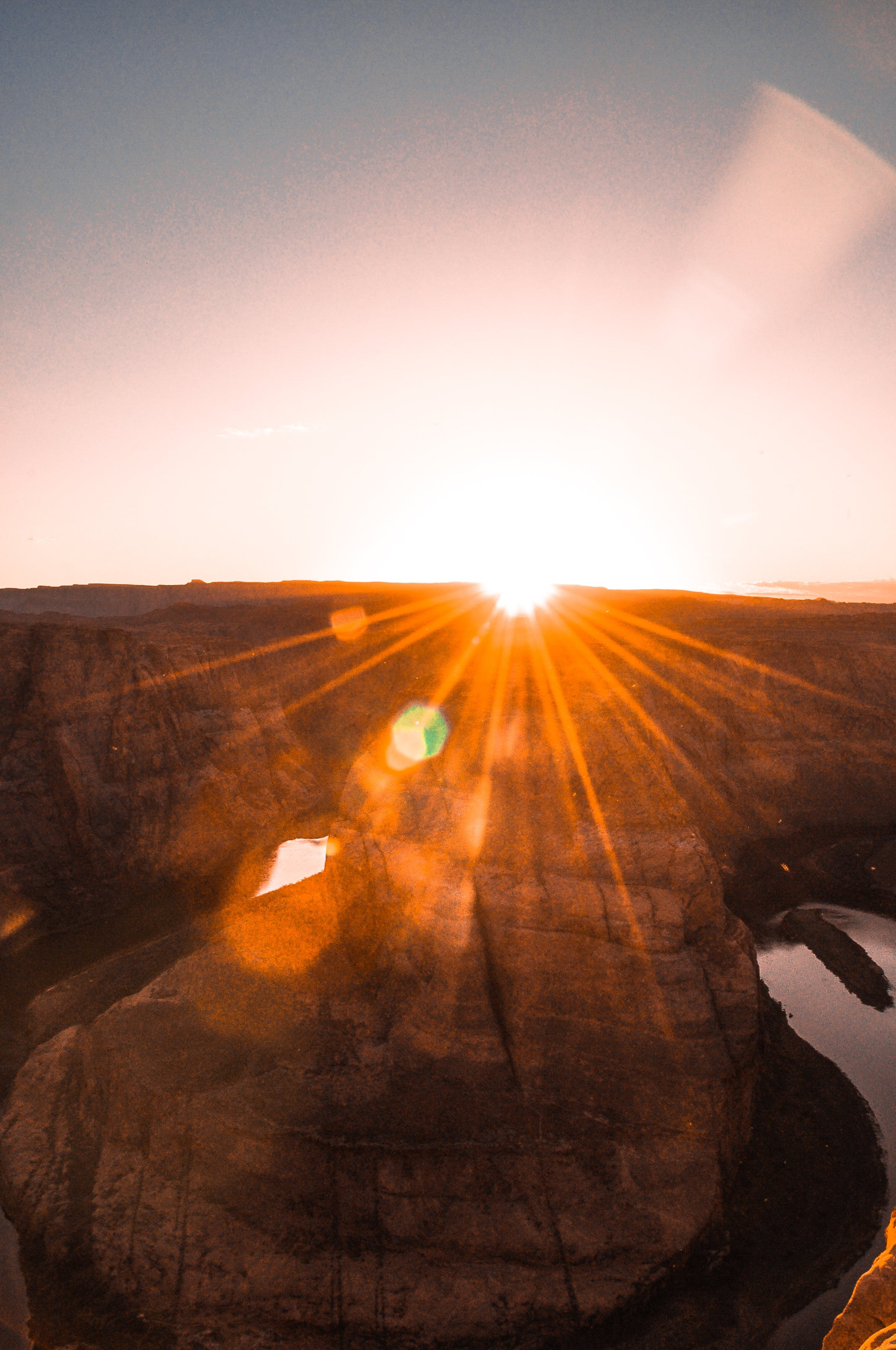 Aerial View Photography of Grand Canyon during Orange Sunset