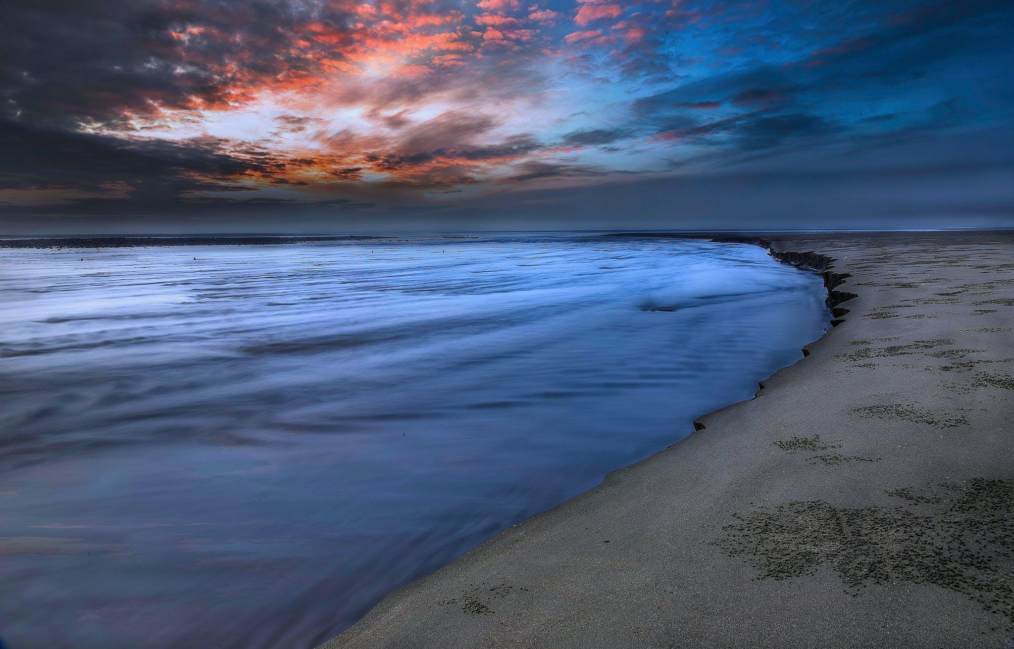 Seashore Under Blue Sky Photography