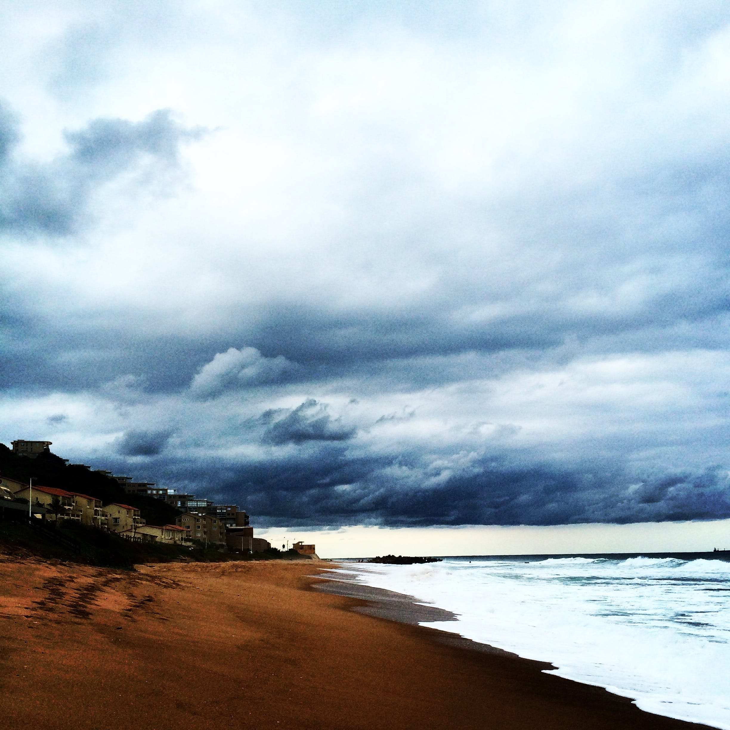 Free stock photo of beach, blue, clouds, rain