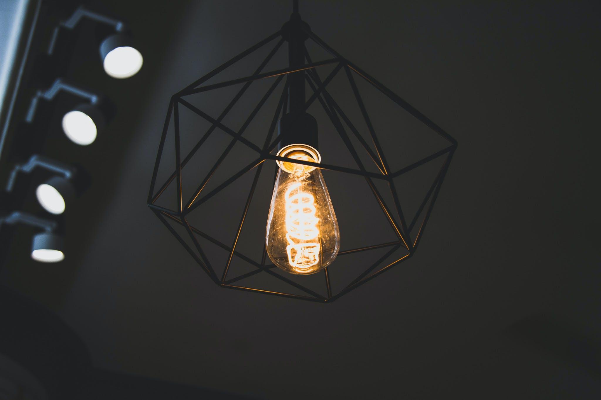 ampoule, art, brillant