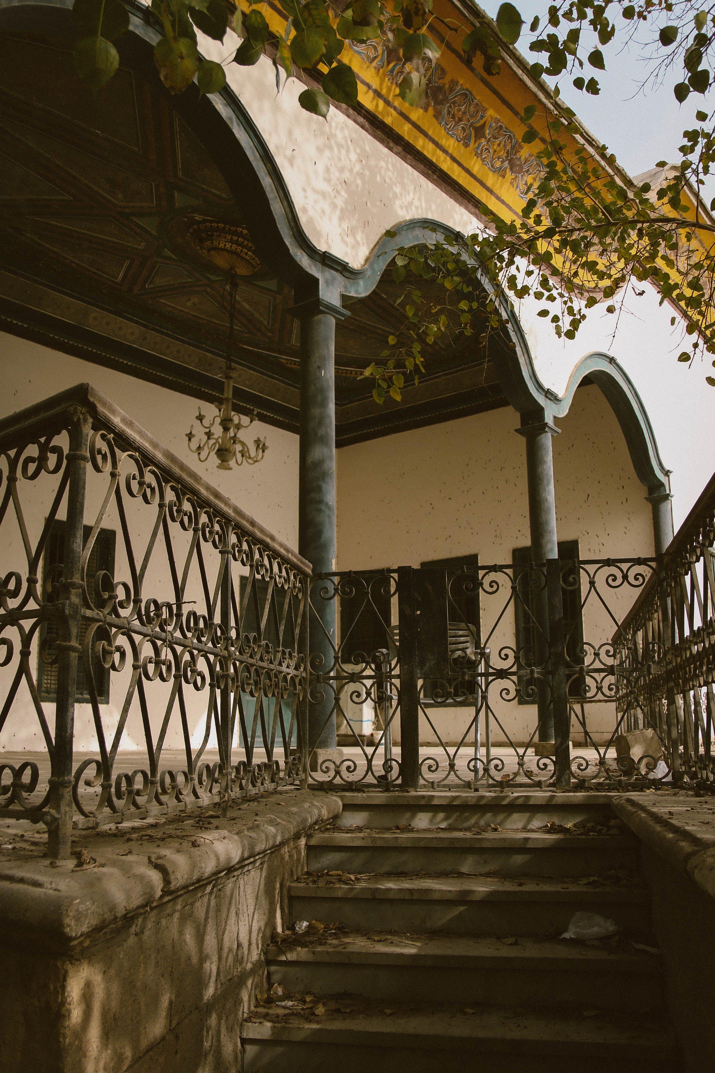 Black Metal Gate Beside House