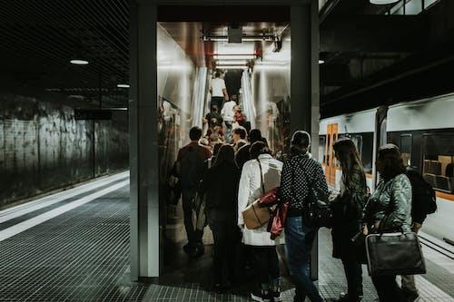 Kostnadsfri bild av folkmassa, inomhus, järnväg, kollektivtrafik