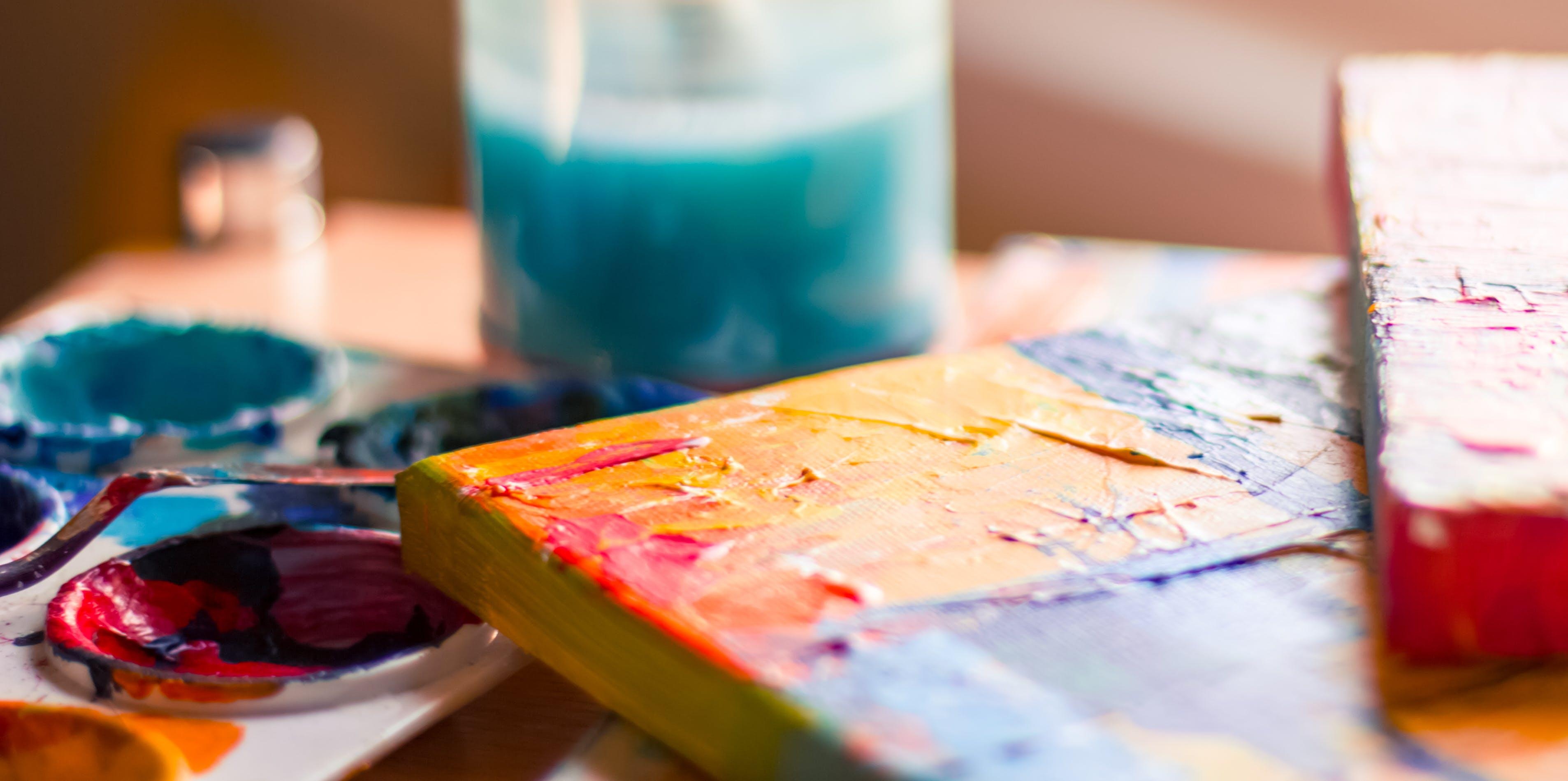 Kostenloses Stock Foto zu aquarell, design, drinnen, einmachglas