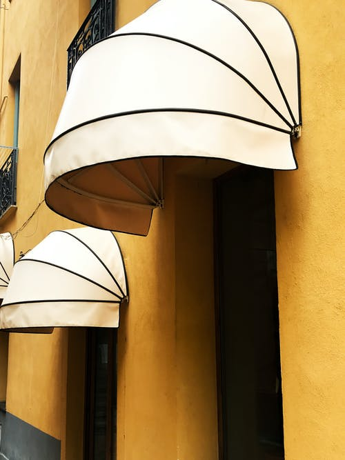 Two Beige Awnings