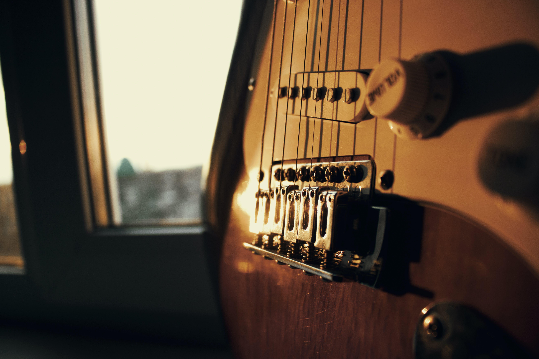 Photo of Brown Guitar