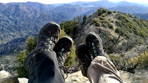 Two Person Wearing Hiking Shoes