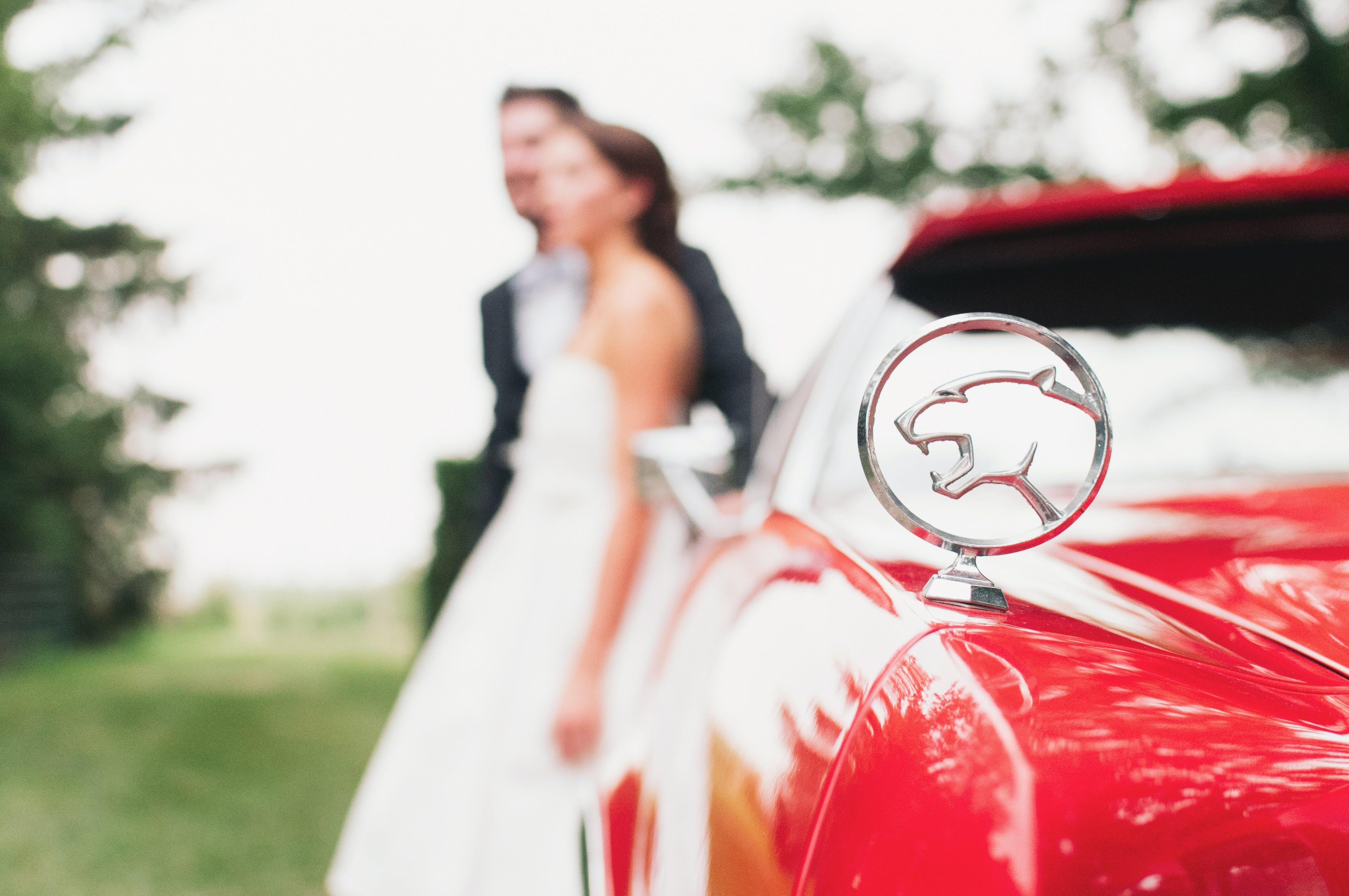 of bride, Bride and Groom, bridge, car