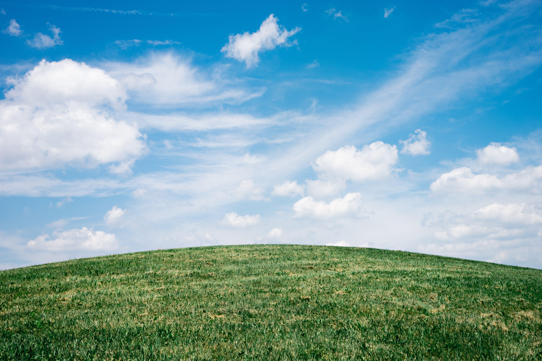 Green Grass Field Under White Clouds