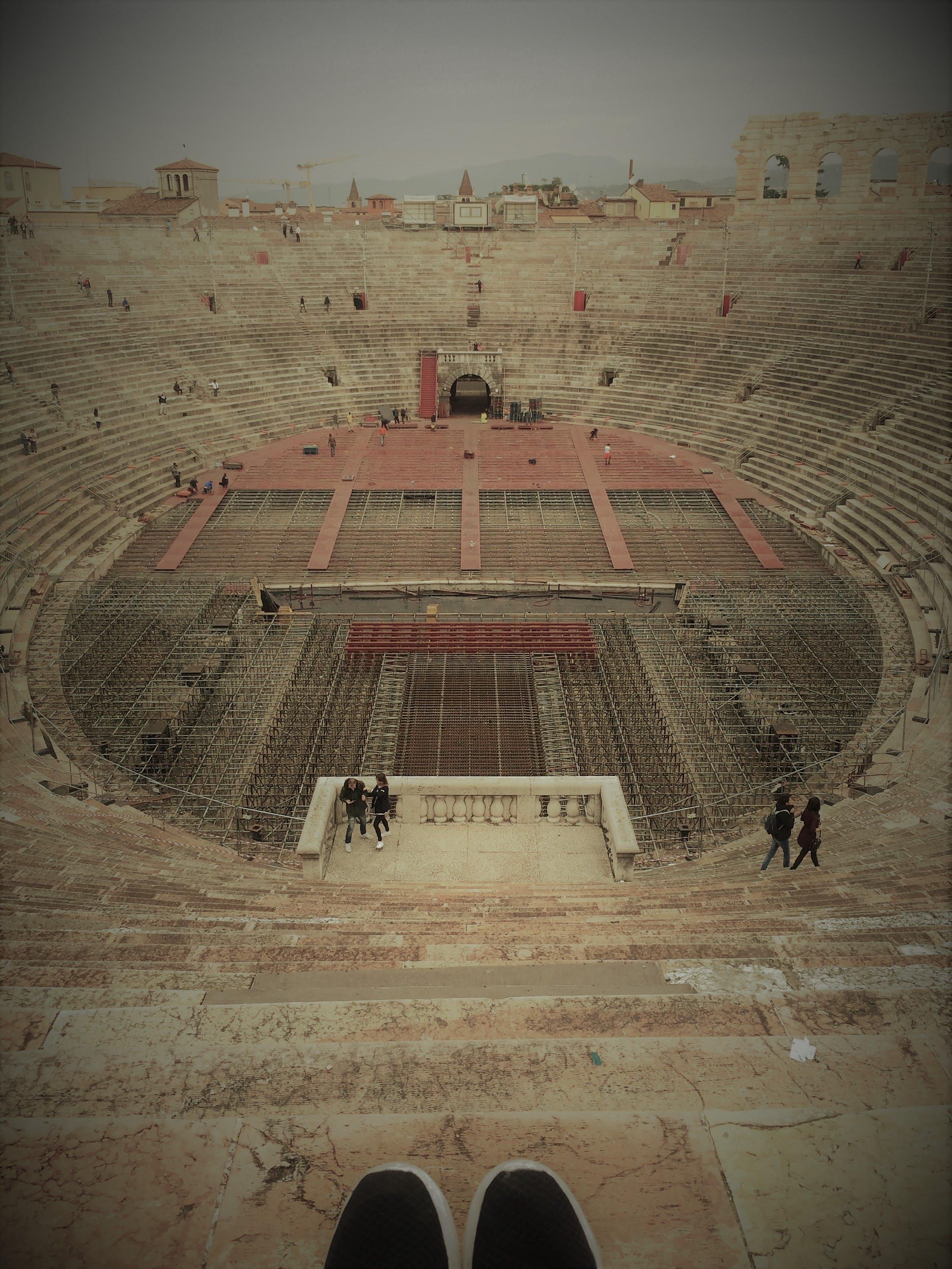 People Walking on Stadium
