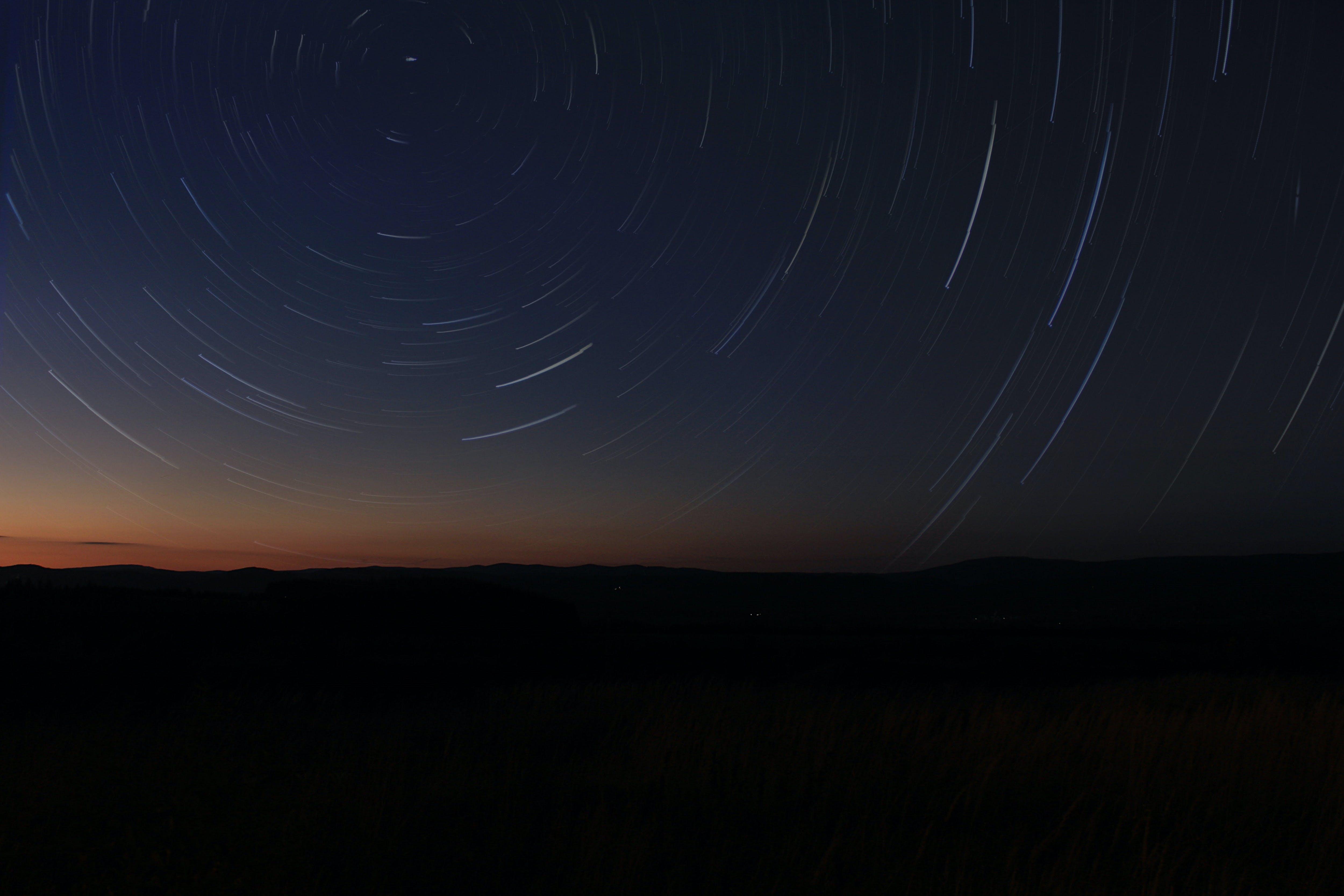 Gratis lagerfoto af aften, astrofotografering, astronomi, farve