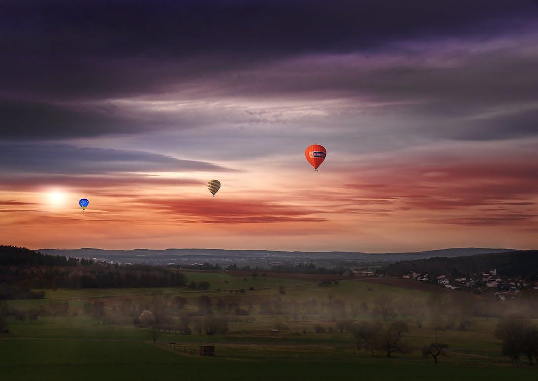 himmel, morgengry, skyer