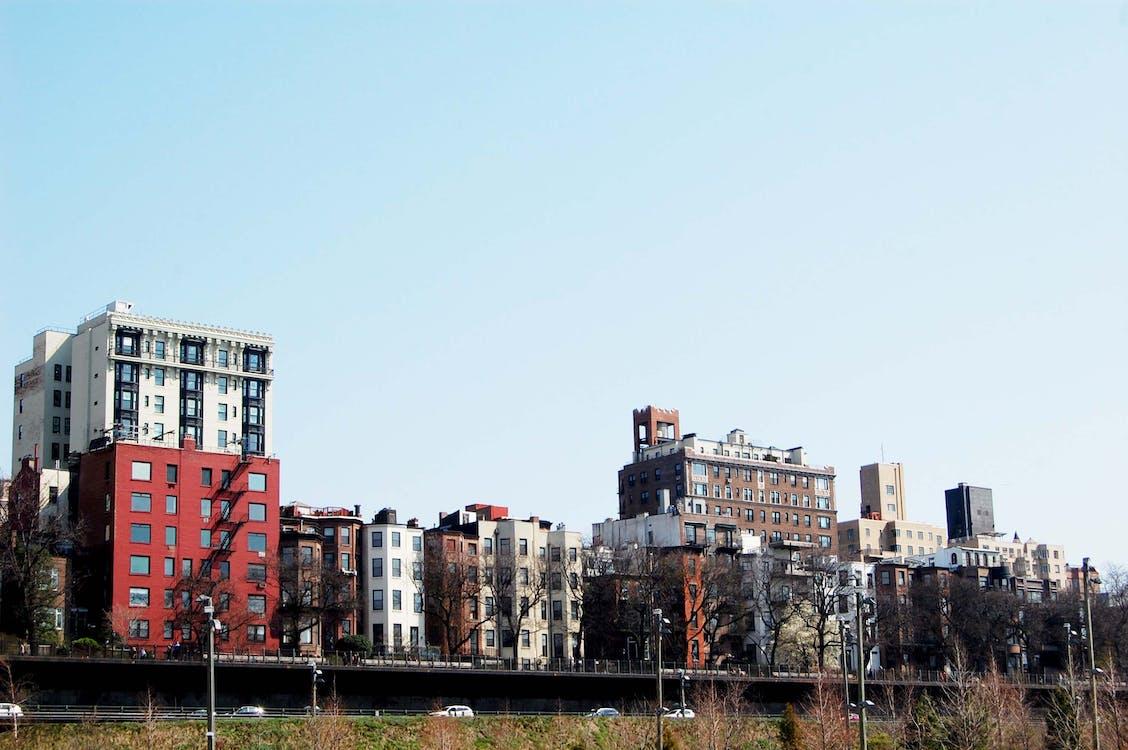 aigua, arquitectura, bloc de pisos