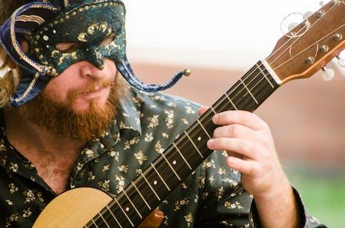 Základová fotografie zdarma na téma hudba, hudebník, kytara, mask