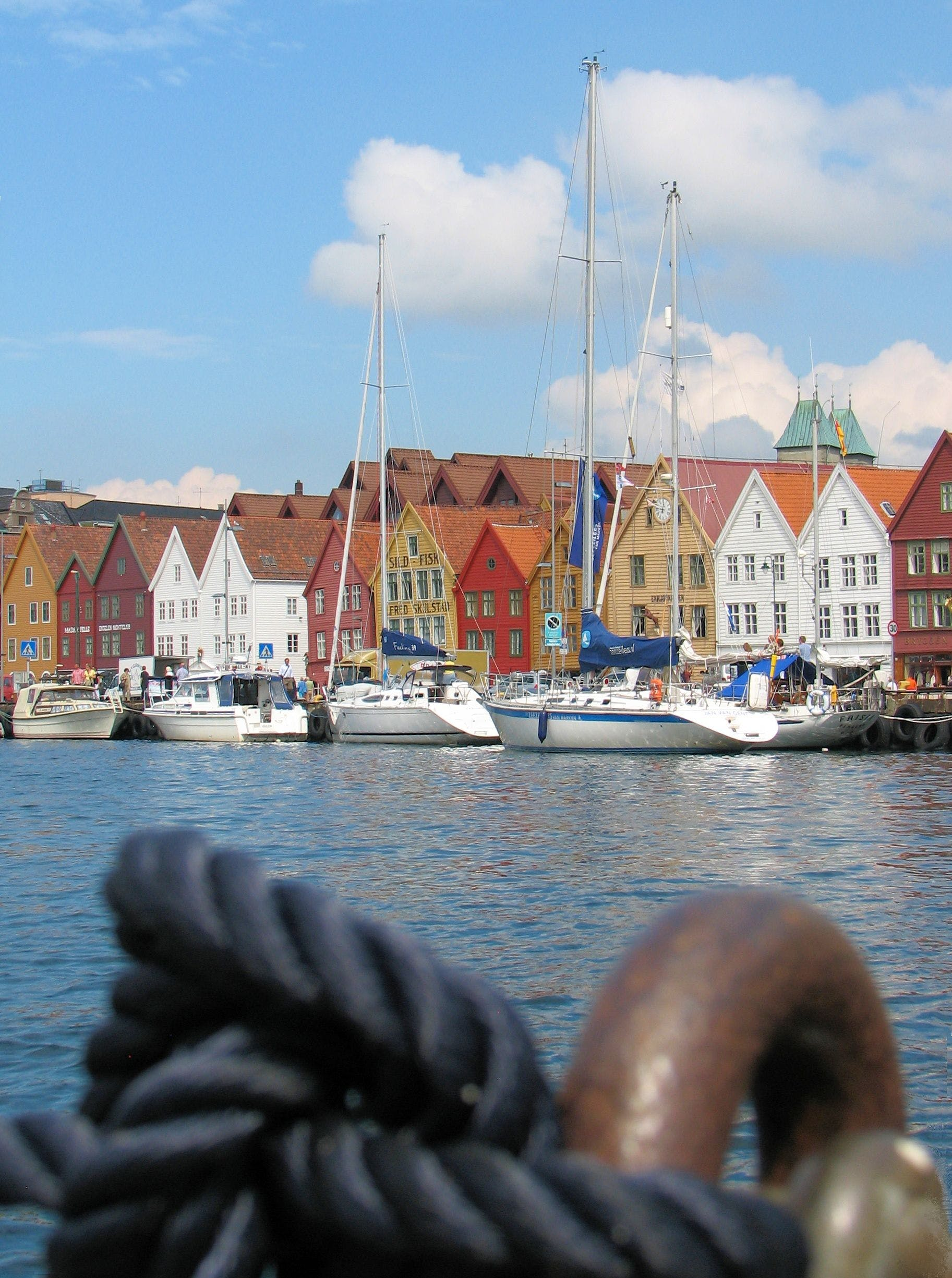 Free stock photo of harbor, rope, norway, waterfront