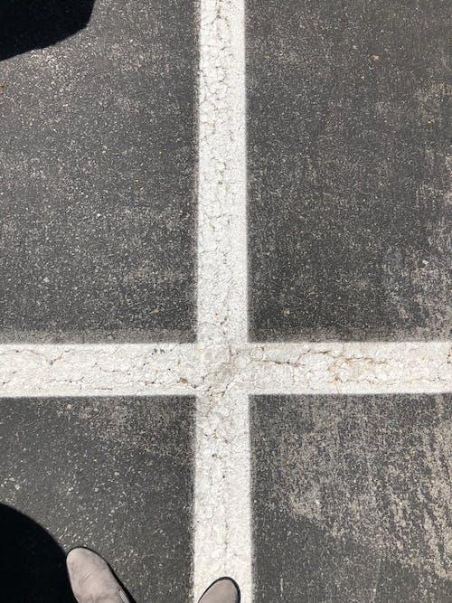 Free stock photo of cross, empty street, road