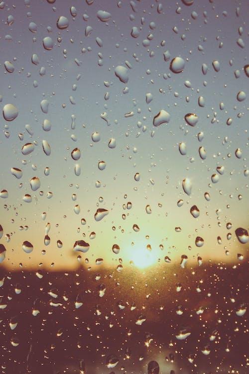 Δωρεάν στοκ φωτογραφιών με Ανατολή ηλίου, βρεγμένος, γυαλί, δύση του ηλίου