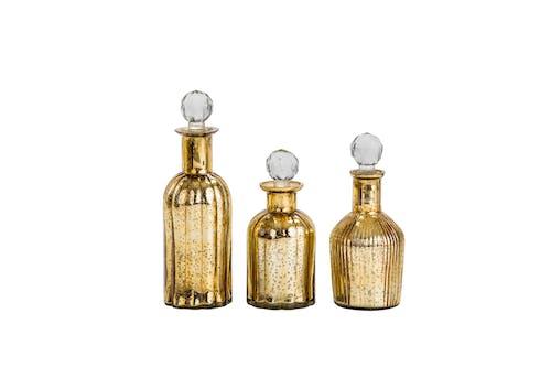 Ảnh lưu trữ miễn phí về chai thủy tinh vàng, thủ công, trang trí chai, trang trí nhà hiện đại