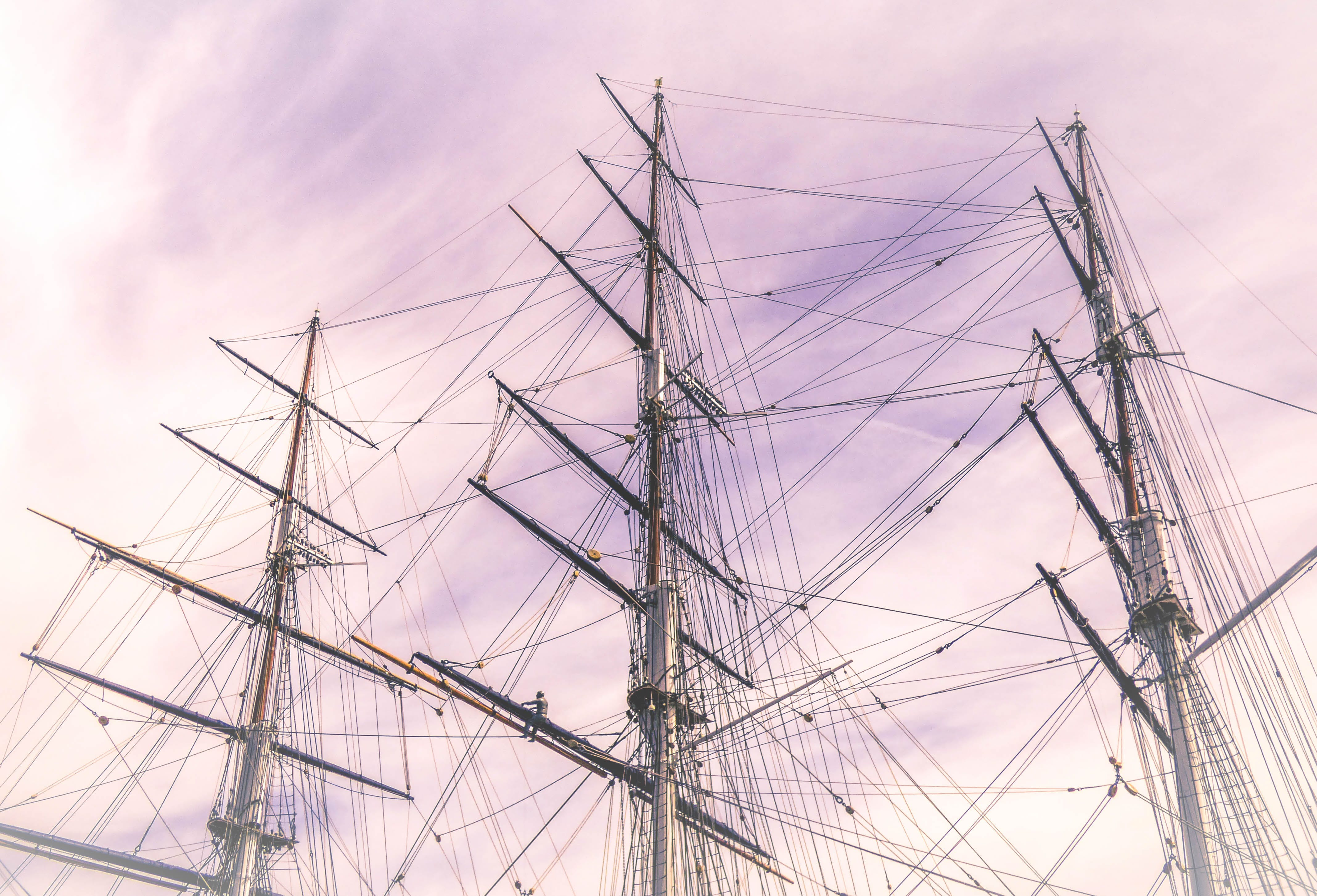 Galleon Ship Photo Under the Cloudy Sky