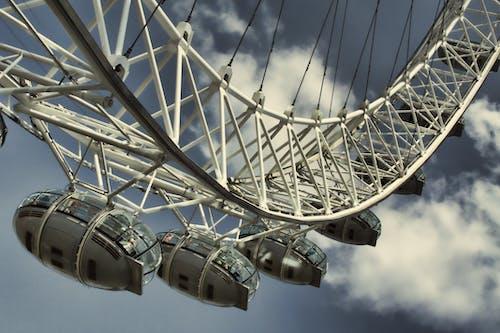Darmowe zdjęcie z galerii z atrakcja turystyczna, chmury, diabelski młyn, london eye