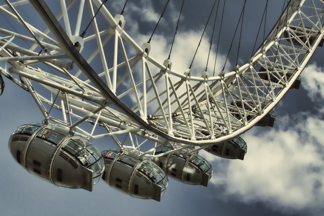 London Eye, mraky, oblaky