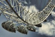 sky, clouds, ferris wheel