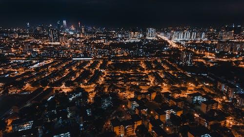 Ingyenes stockfotó az én városom, az otthonom, DJI, éjszaka témában