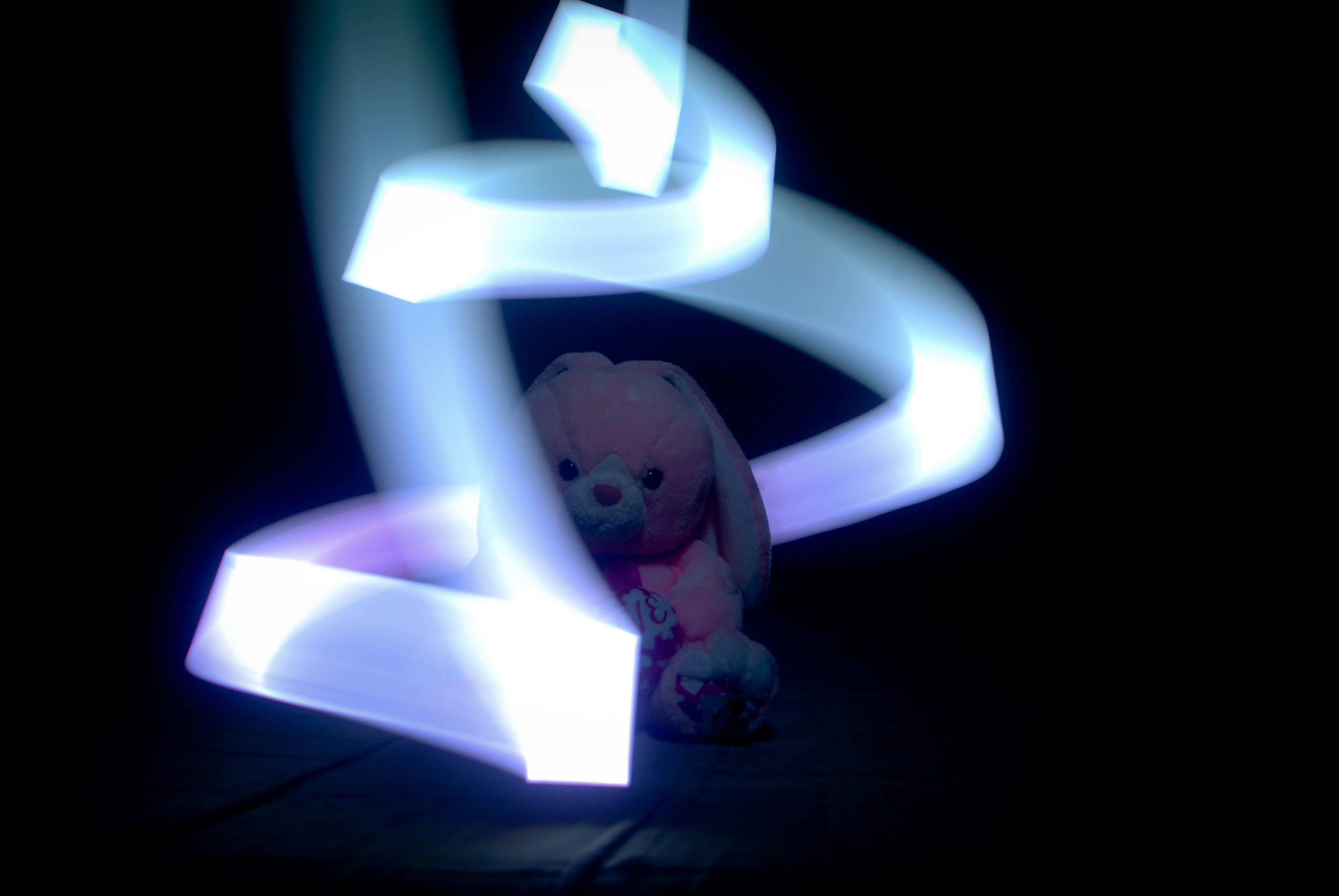 Pink and White Rabbit Plush Toy
