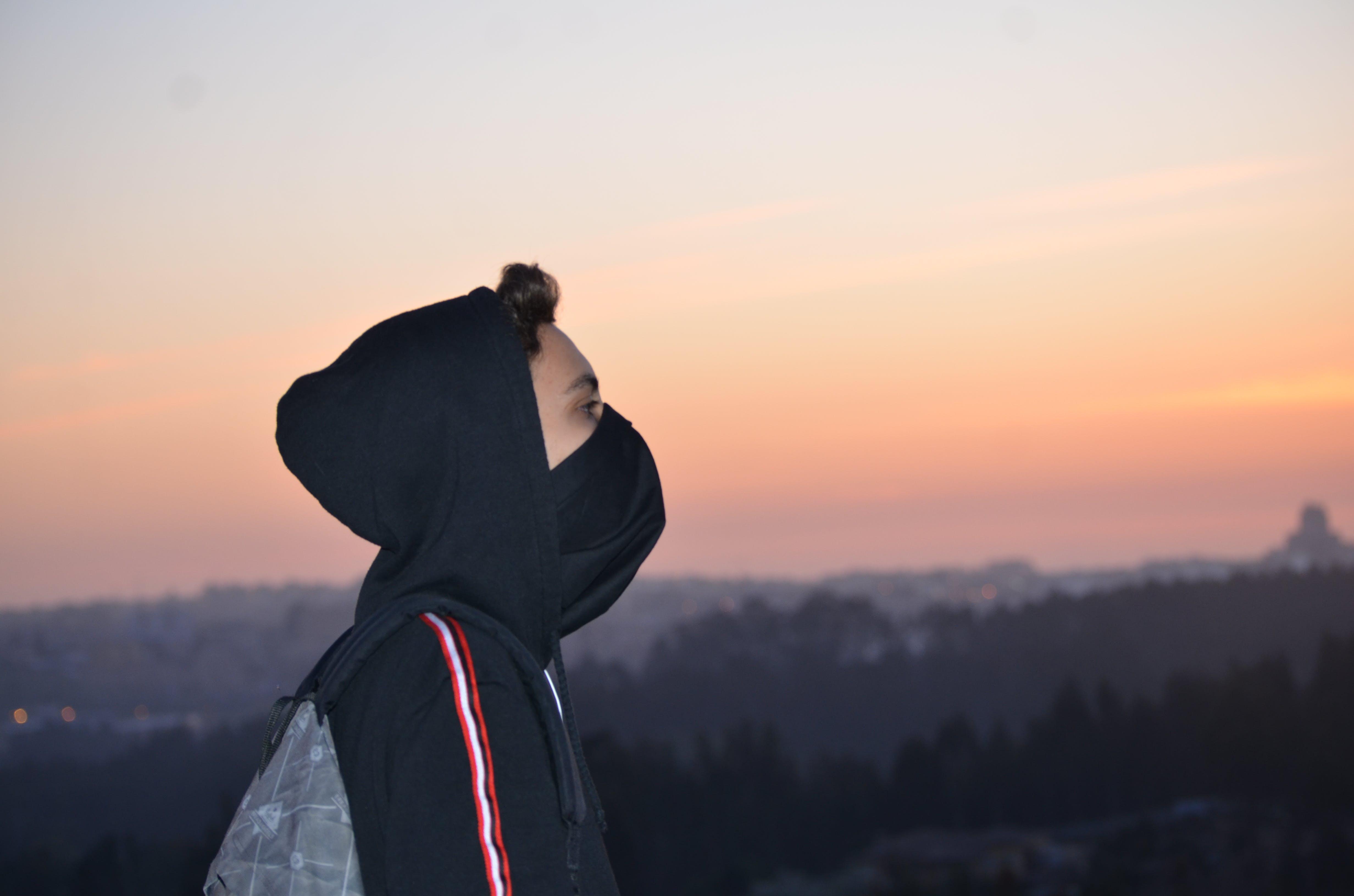 Person Wearing Black Hoodie