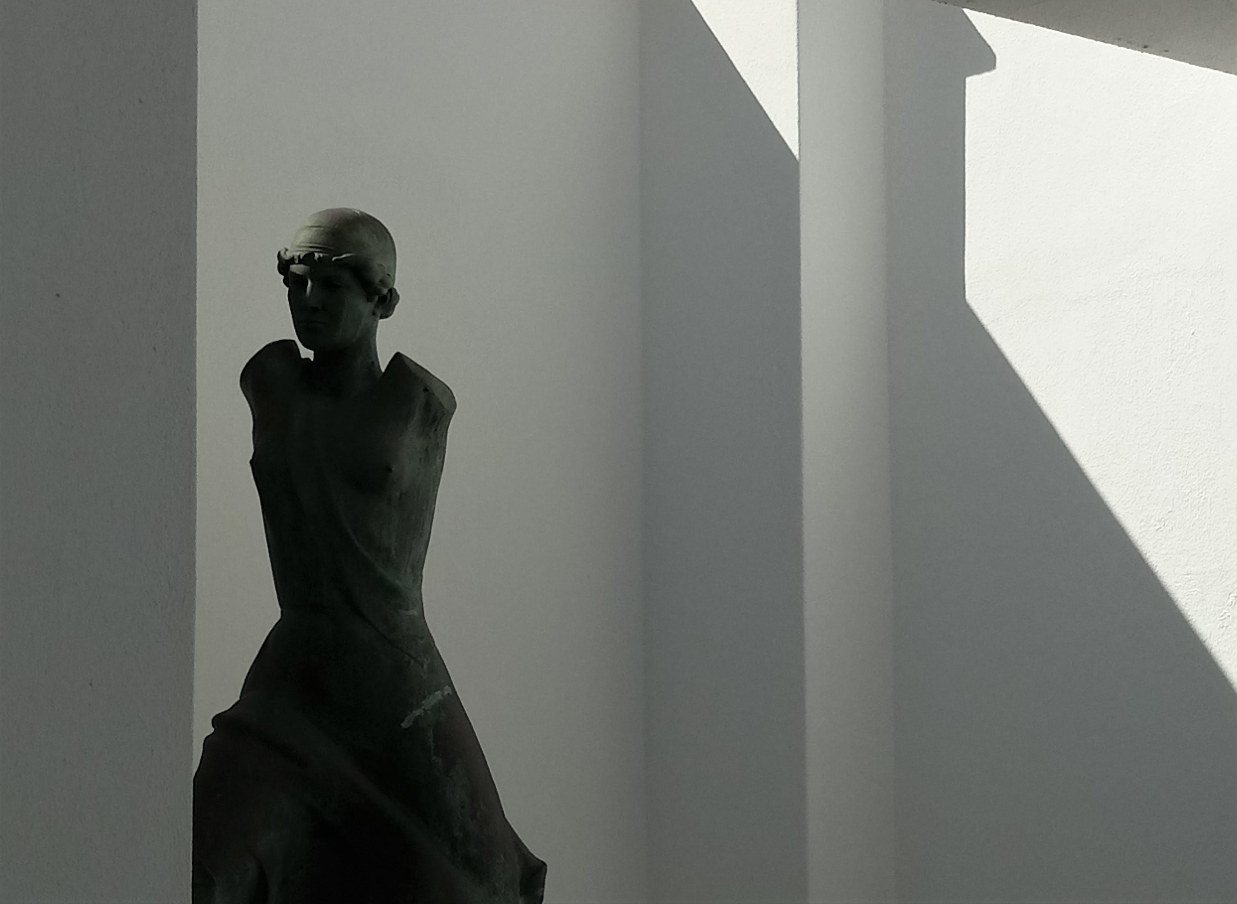 Free stock photo of art, bronze, bronze statue, contrast