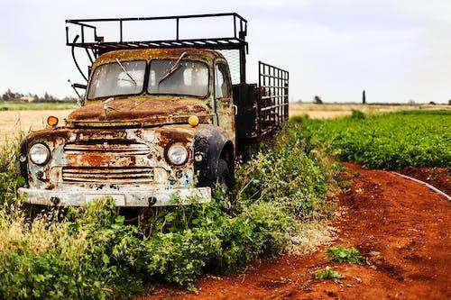 土, 夏天, 拖拉機, 放棄 的 免費圖庫相片