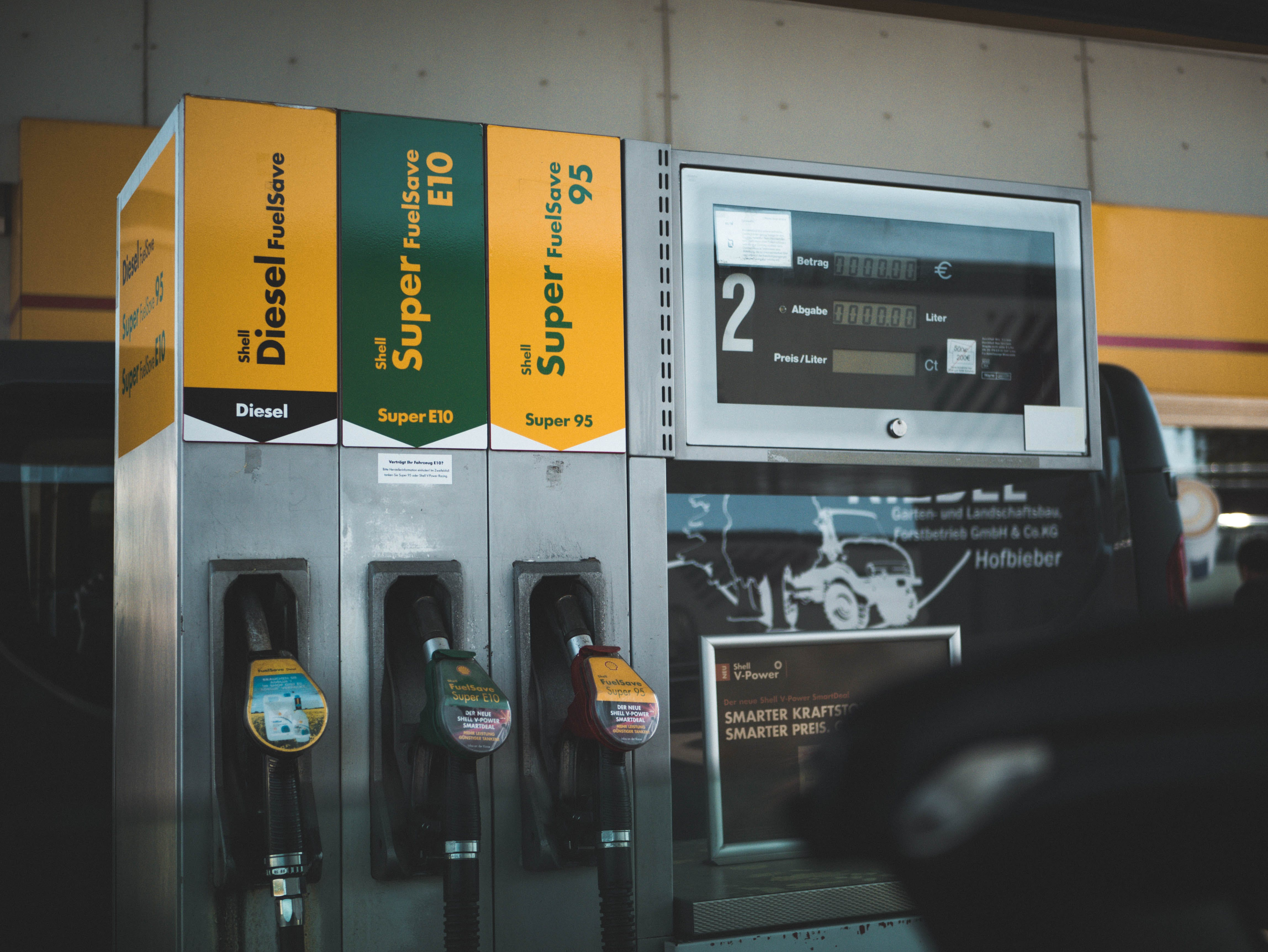 Photo of Gasoline Dispenser in Station