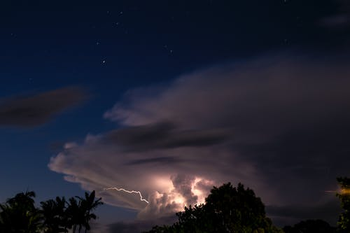 Free stock photo of cloud, lightning, long exposure