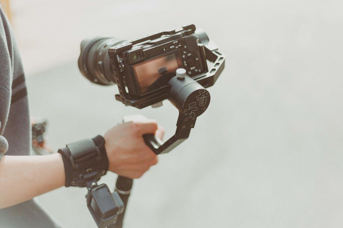 acción, adentro, cámara