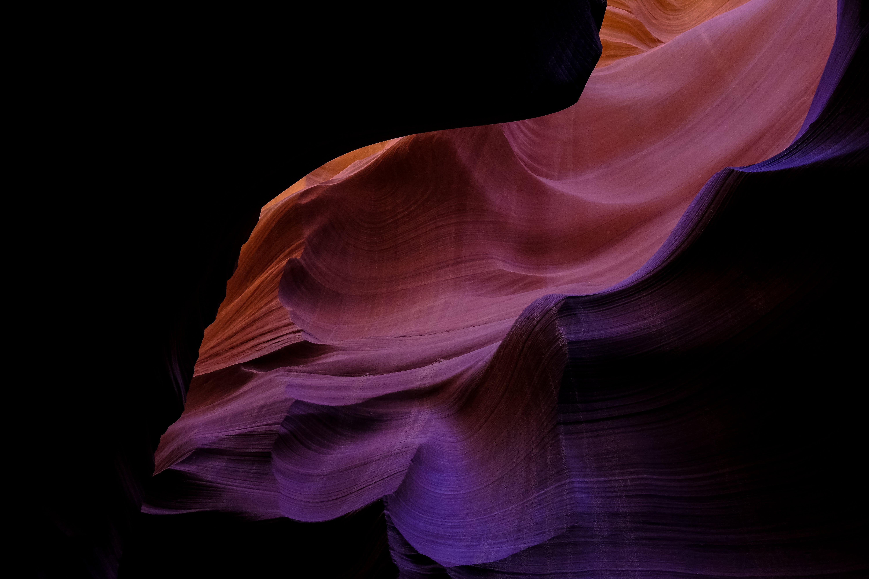 Kostenloses Stock Foto zu antelope canyon, dunkel, farbe, geologie