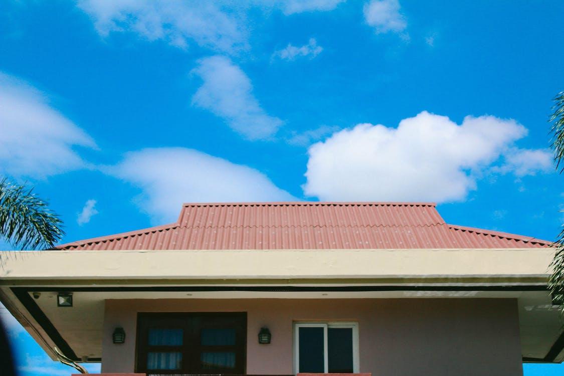 acoperiș, albastru, cer