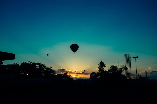 Hot Air Balloon during Sunset