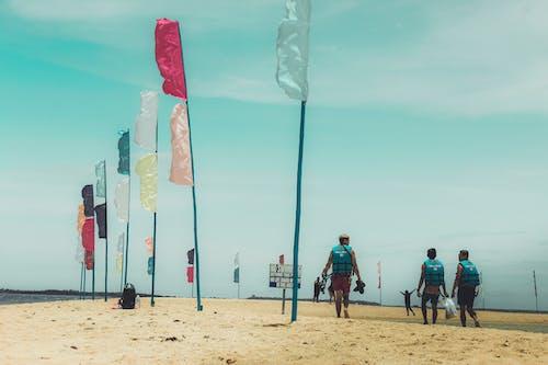Gratis lagerfoto af hav, kyst, mand, sand