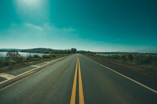 Free stock photo of road, landscape, sky, trees